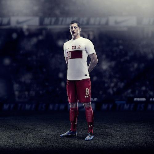 kaos sepakbola jersey polandia euro 2012 home