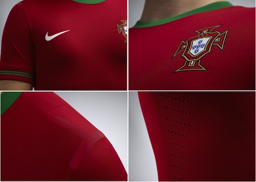 Jersey Portugal Home Euro 2012
