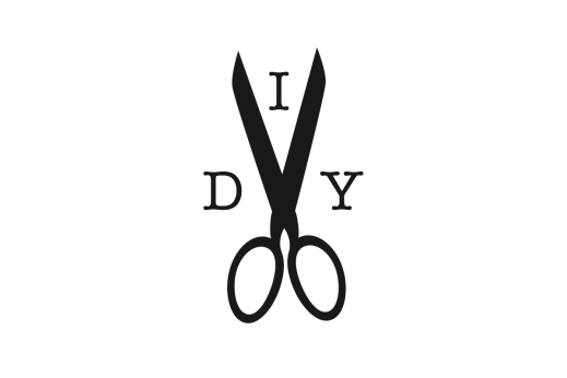 do it yourself logo black and white